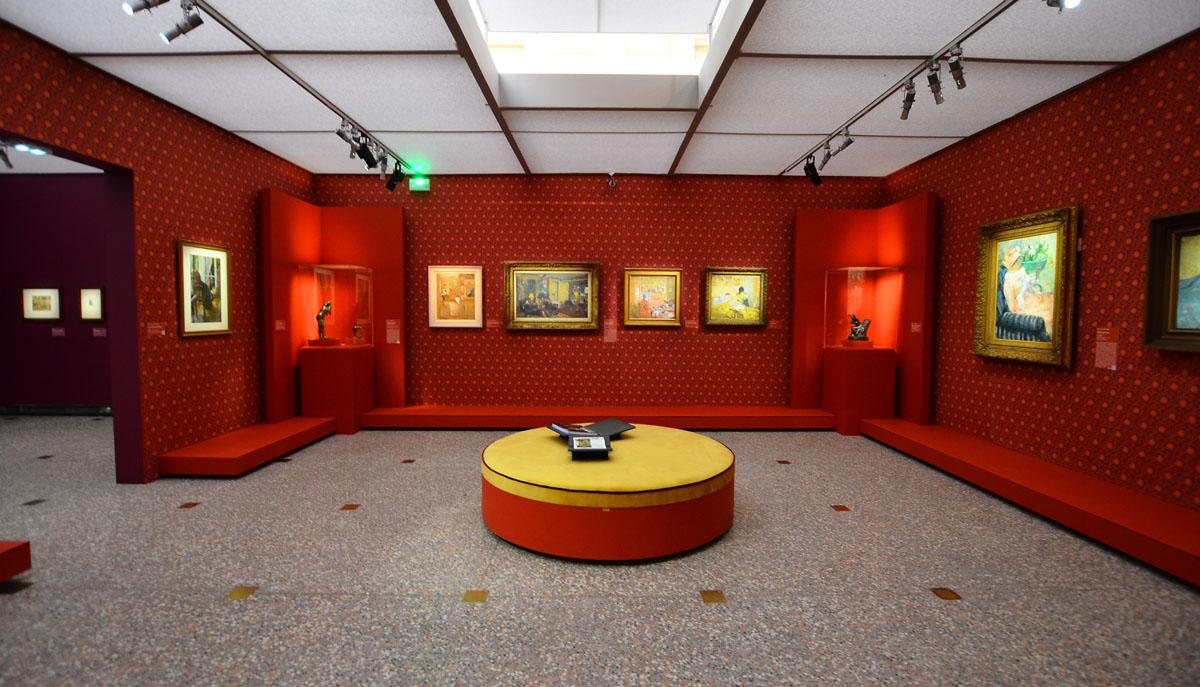 """Réalisation de différents papiers pour mettre en valeur les différentes salles de l'exposition """"Impressionnisme"""" au Musée d'Orsay"""